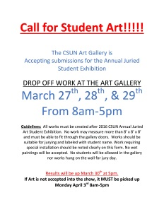 Call for Student Art