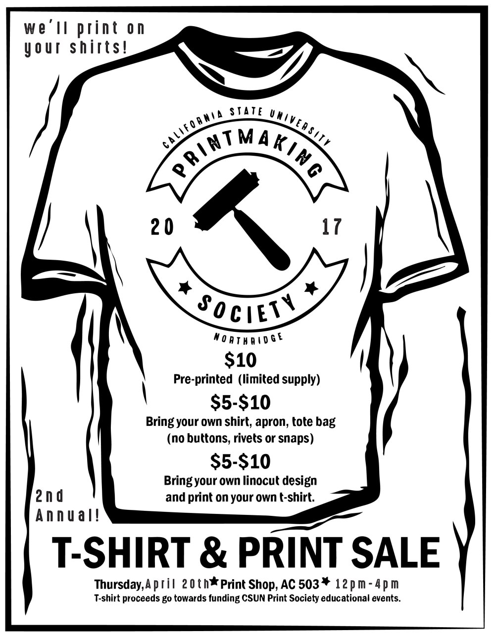 CSUN_Print_Club_Tshirt_Event