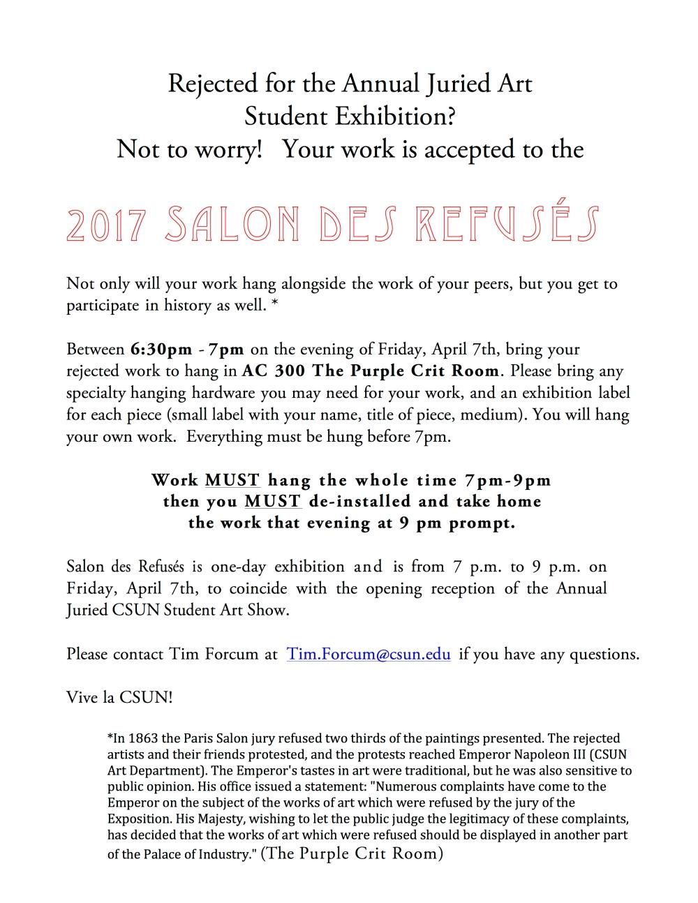 Salon Des Refuses 2017