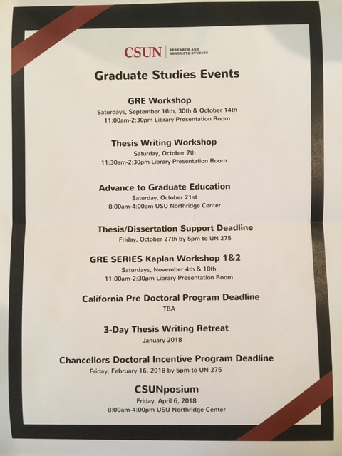 csun thesis deadlines